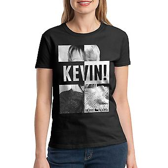 Home Alone Kevin! Scream Women's Black T-shirt