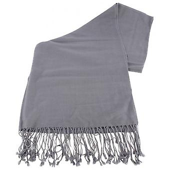 Bassin and Brown Aspen Large Plain Wool Scarf - Grey