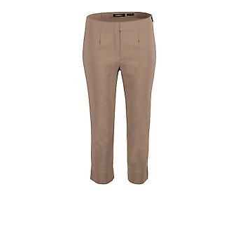 Robell Marie Cropped Trousers in Taupe