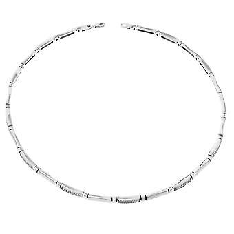 Orphelia plata 925 collar satén circonio ZK-2794