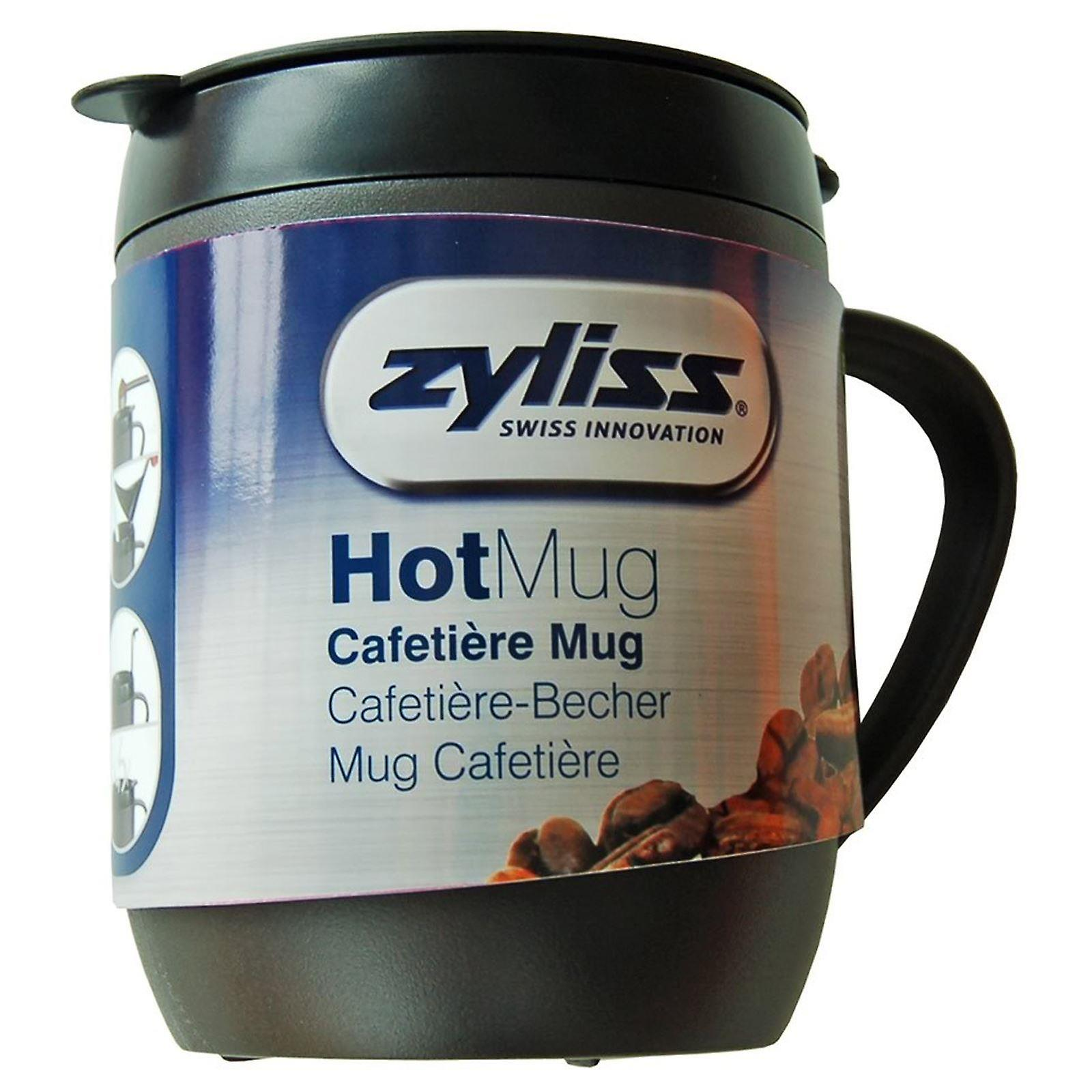 Zyliss Cafetiere Hot Mug - Grey + Red + Blue