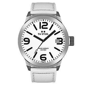 TW stål mens klocka Marc Coblen Edition TWMC20 wrist watch läderarmband