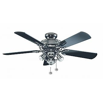 Ceiling Fan Gemini Pewter with lighting 107 cm / 42