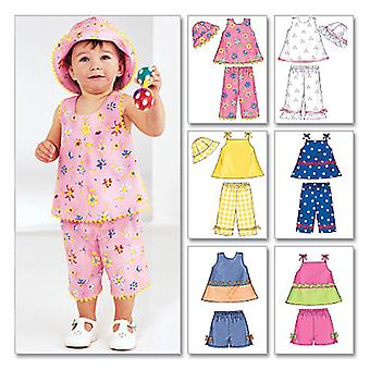 Infants' Top, Shorts, Pants and Hat-L-XL -*SEWING PATTERN*