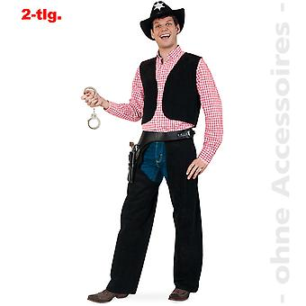 Cowboy Kostüm Herren Wild West Kuhhirte Revolverheld Herrenkostüm