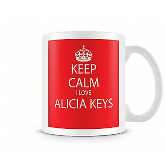Keep Calm I Love Alicia Keys Printed Mug