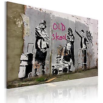 Leinwand Drucken - alte Schule (Banksy)