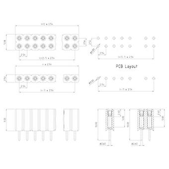 W & P Products Receptacles (precision) No. of rows: 1 Pins per row: 50 153-050-1-50-00 1 pc(s)