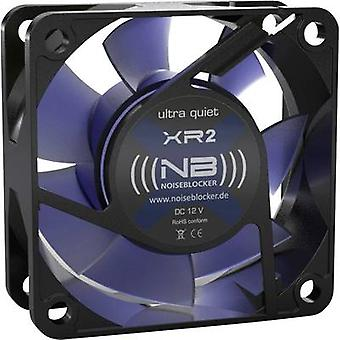 NoiseBlocker BlackSilent XR-2 PC fan Black, Blue (transparent) (W x H x D) 60 x 60 x 25 mm
