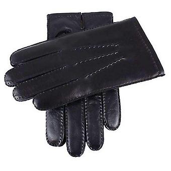 Dents Cashmere Lined Touchscreen Leather Gloves - Black