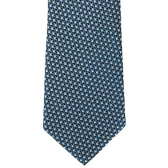 Michelsons of London Fish Scale Geo Silk Tie - Teal