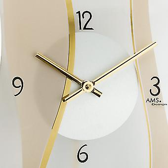 Quartz wall clock wall clock quartz clock with pendulum satin and printed mineral glass