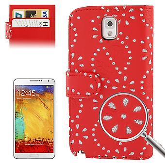 携帯電話カバー携帯電話ケース、携帯電話三星銀河注 3 N9000 赤十字社
