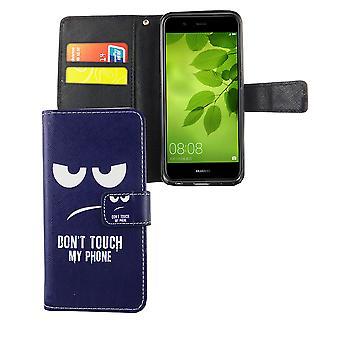 Dont touch my phone mobile case Huawei Nova 2 flap envelope Wallet case