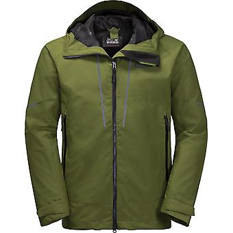 Jack Wolfskin Mens Skei Trail Waterproof Windproof Hooded Jacket Coat