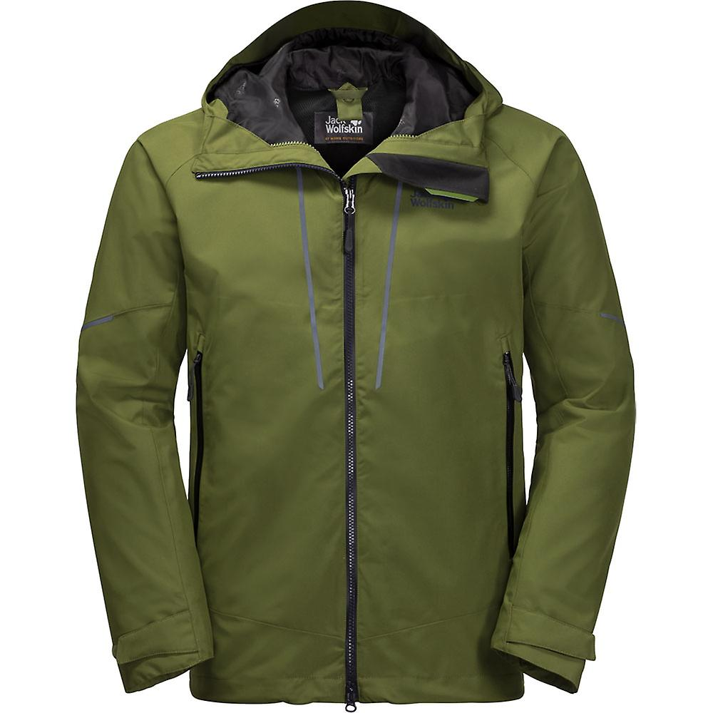 Jack Wolfskin Mens Skei Trail coupe-vent imperméable Hooded Jacket Coat