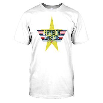 Przeżył Dangerzone - fajny Top Gun męskie T Shirt