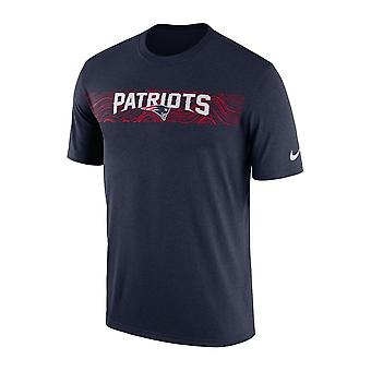 Nike Nfl New England Patriots Sideline Seismic Legend Performance T-shirt