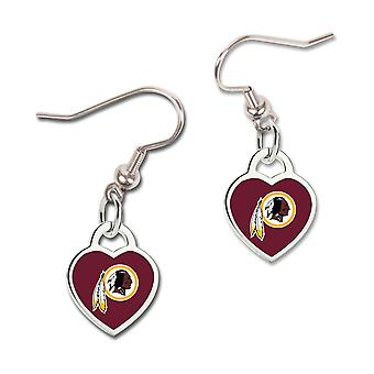 Wincraft ladies 3D heart earrings - NFL Washington Redskins