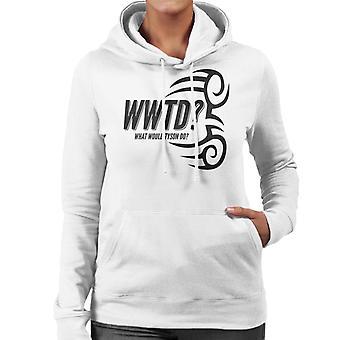 WWTD What Would Tyson Do Women's Hooded Sweatshirt