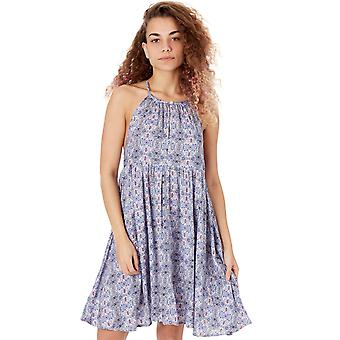 ONeill White AOP-Blue Beach High Neck Dress