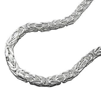 Cadena aprox. 4mm cadena rey Plaza brillante plata 925 70 cm