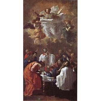 المعجزة للقديس فرانسيس كزافييه، نيكولا بوسان، 80x40cm