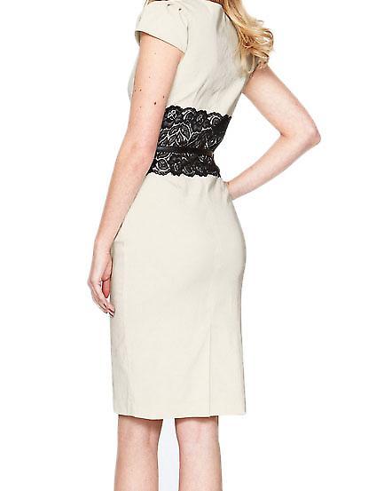 Waooh - mode - jurk potlood heeft juk in lace