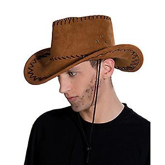 Sombrero de vaquero de cuero marrón salvaje