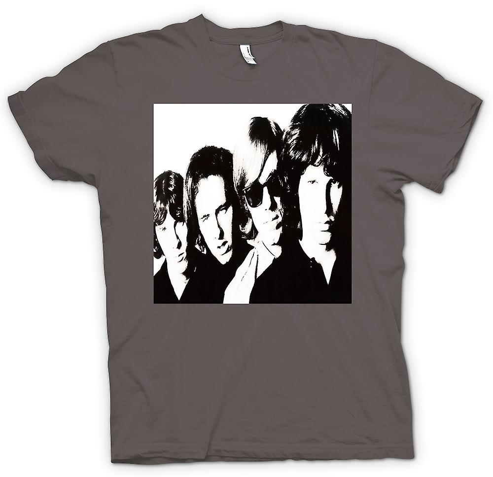 Mens T-shirt - Türen-Band-Portrait - BW