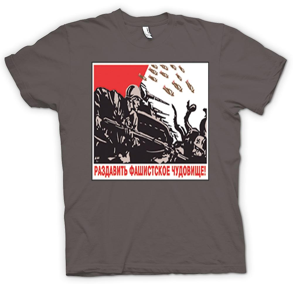 Womens T-shirt - Russian Propoganda War Poster