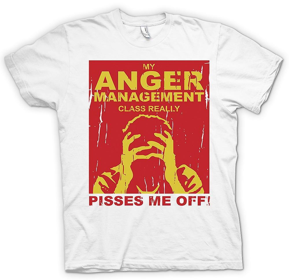 Camiseta para hombre-mi clase de manejo de ira realmente Me revienta