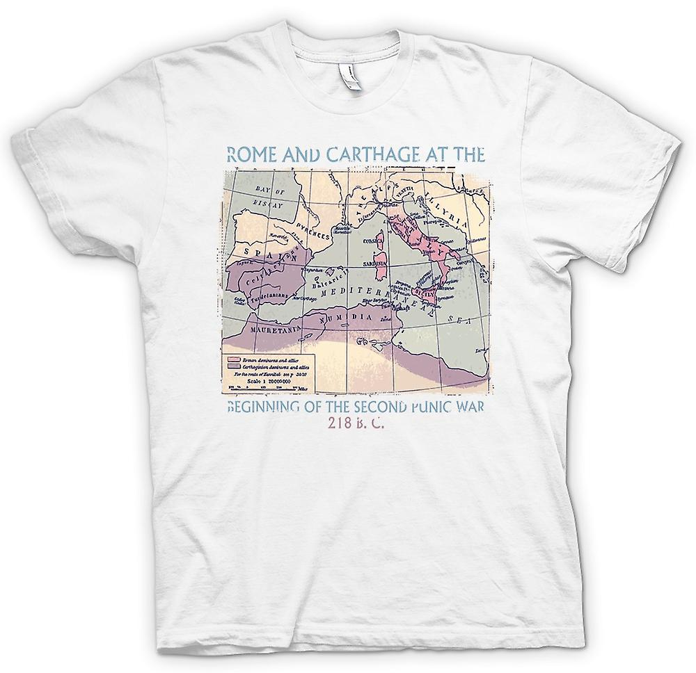 Mens T-shirt - Rome And Carthage - Second Punic War