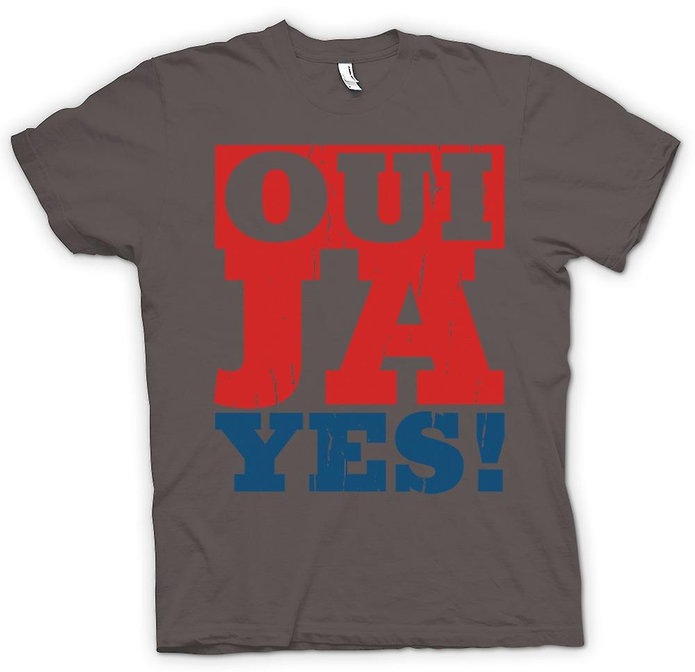 Womens T-shirt - Oui - Ya - Yes - Funny language
