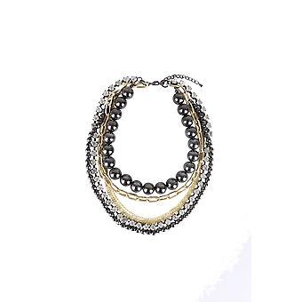 Lovemystyle Multi couche collier tour de cou avec des chaînes et des perles