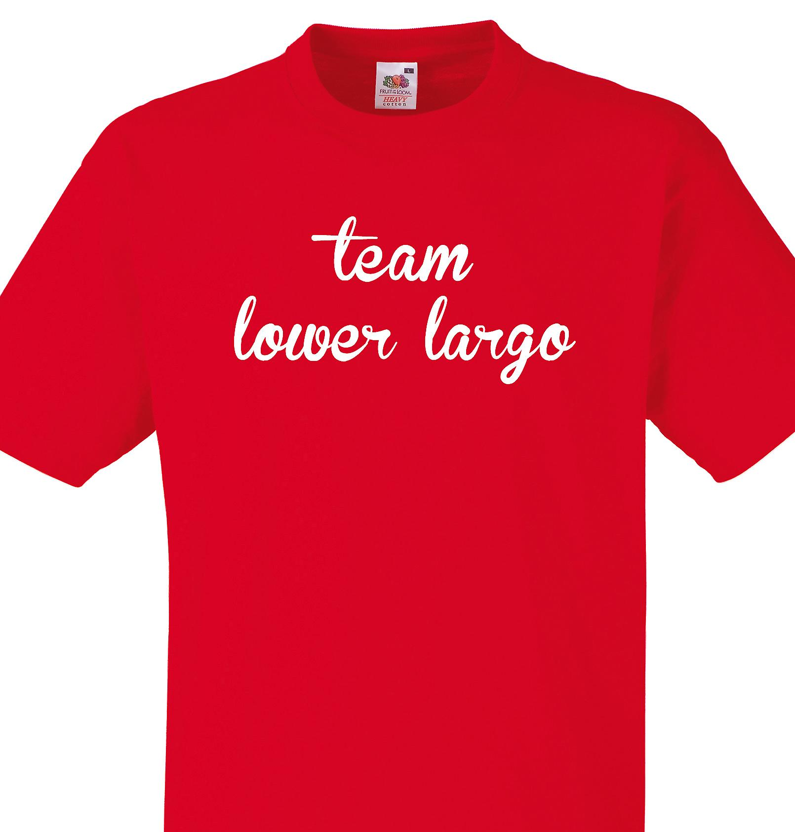 Team Lower largo Red T shirt