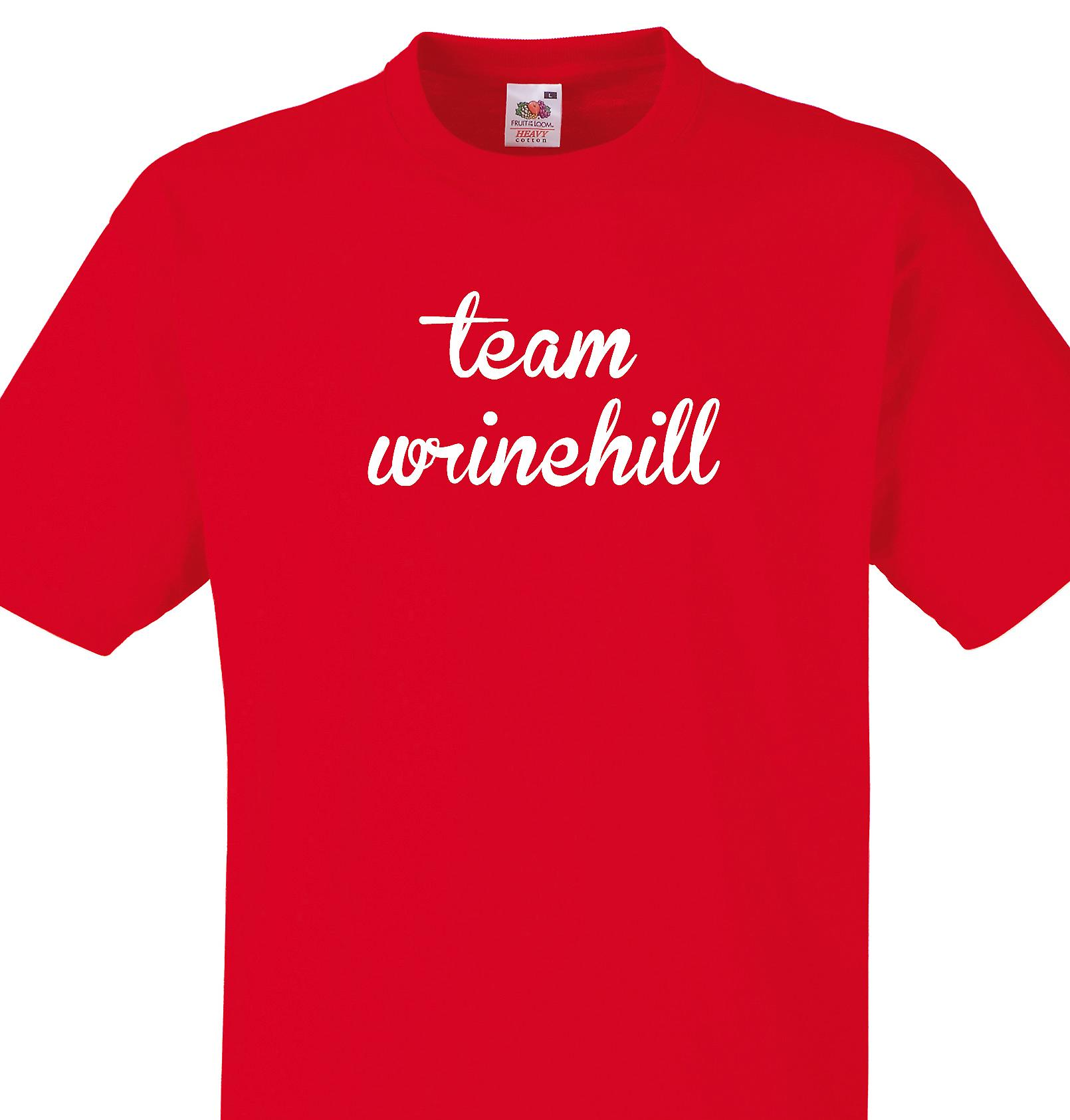 Team Wrinehill Red T shirt
