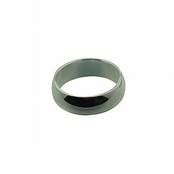 Silver 7mm plain D shaped Wedding Ring Size Q