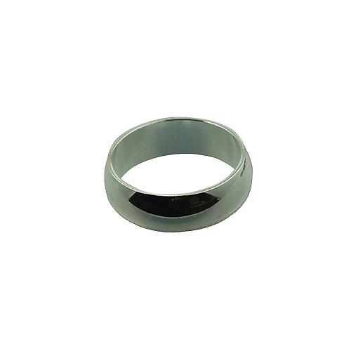 Silver 7mm plain D shaped wedding ring