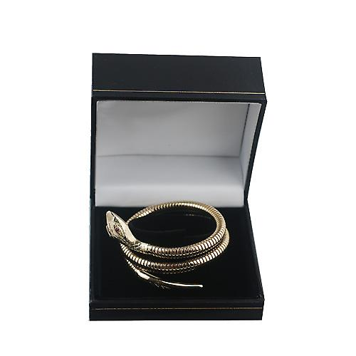 9ct Gold Ruby set Snake Bracelet