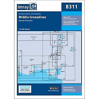 Imray Chart B311: Middle Grenadines (Iolaire Chart)