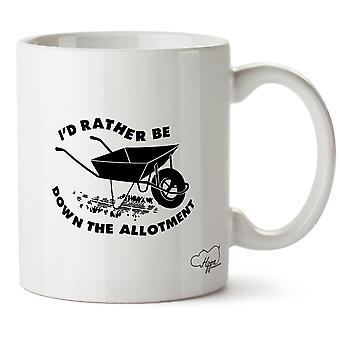 Hippowarehouse I'd Rather Be Down The Allotment 10oz Mug Cup