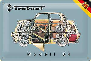 Trabant Model 84 (cutaway) embossed steel sign