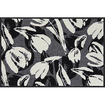 Salon Leeuw deurmat Mariko zwart-wit deur tapijt loper