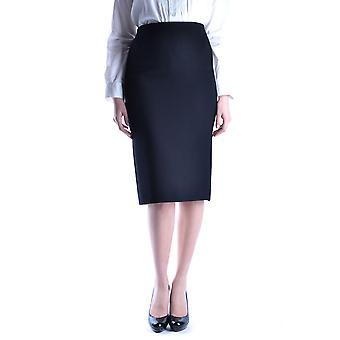 Miu Miu Black Wool Skirt
