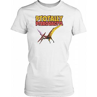Ptotally Pterodactyl Cool dinosaurie damer T Shirt