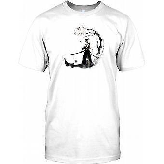 Samurai Warrior With Sword -  Mens T Shirt
