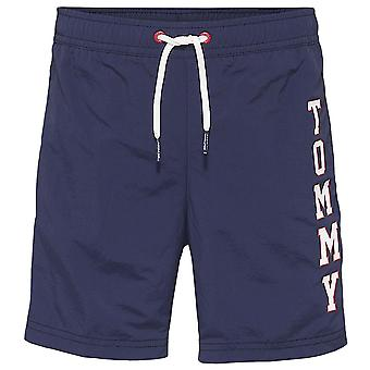Tommy Hilfiger Boys Logo Drawstring Swim Shorts, Navy Blazer, X-Large