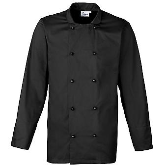 Premier Unisex Cuisine Long Sleeve Chefs Jacket (Pack of 2)