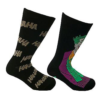 DC Comics The Joker Assorted Socks (2 Pairs)  - ONE SIZE